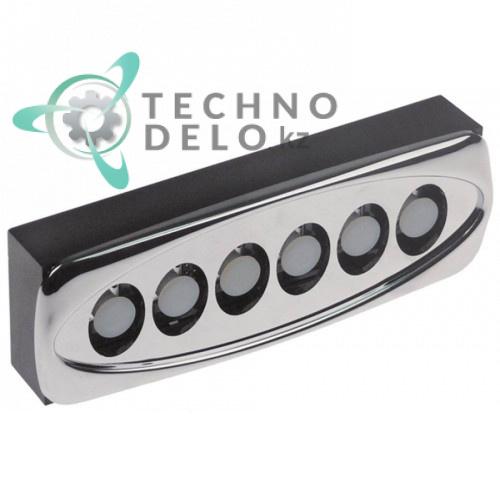 Панель управления Gicar 135x44мм 6 кнопок для кофемашины Carimali E9 COF/E9 Espresso