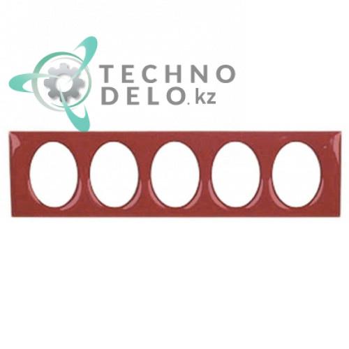 Рамка облицовочная красная 102x27мм 70000182 для кнопок кофемашины Expobar Markus