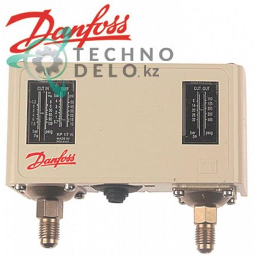 Прессостат Danfoss KP17W60-1275 тип ND/HD высокое/низкое давление диапазон 8-32 бар сброс автоматический