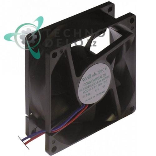 Вентилятор осевой (кулер) Commonwealth 80x80x25мм шарикоподшипник 12VDC 4.6Вт термостойкость 70°C для охлаждения микросхем и др.