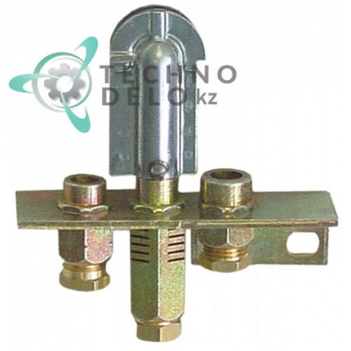 Горелка газовая Polidoro 2-х пламенная подключение 6мм 2510389 BN2510389 020496 для Olis, BARTSCHER, METOS и др.
