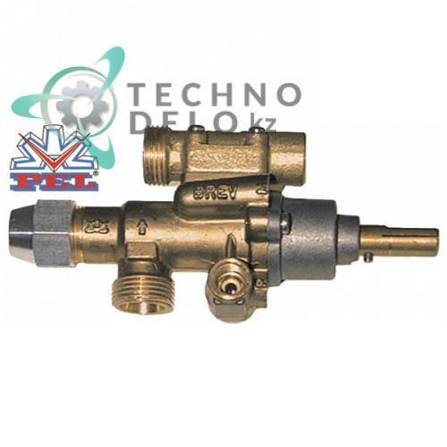 Кран газовый PEL тип 22S/O вход для газа M20x1,5 жиклер 0,35мм (арт. 791911, 791944)