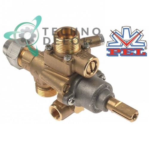 Кран газовый PEL тип 22S/V выход для газа M20x1,5 (труба-ø 12/10 мм)