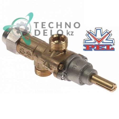 Кран газовый PEL тип 20S для газовой плиты Electrolux, Gico, Lotus, Oztiryakiler и др. (арт. 0K2868)
