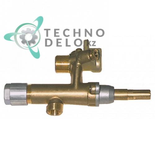 Кран газовый EGA серия 26400 модель с выходом для трубки подключения применяется для газовых плит