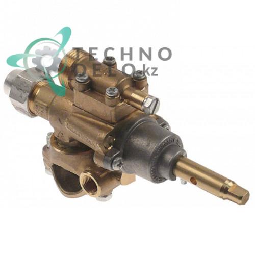 Кран газовый PEL 22S/O (жиклер ø0.35мм M20x1.5 ось 8x6.5мм) G304040 для Capic W380111 и др.