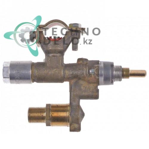 Кран газовый EGA 30750 M12x1 труба ø8мм M8x1 ось 6x4,6мм дюза ø0,5мм M12x1 200207 202610 для Polydor и др.
