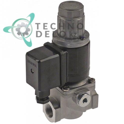 Клапан электромагнитный BRAHMA 230VAC 1/2 L-72мм тип катушки 13922051
