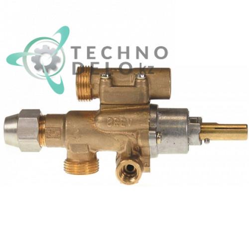 Кран газовый PEL тип 22S/O вход для газа M20x1,5 (труба-ø 12 мм) арт. GA053