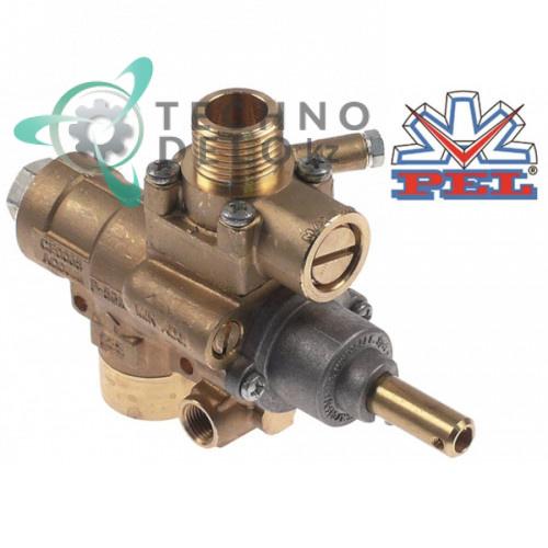 Кран газовый PEL тип 23S/V выход для газа 1/2″ жиклер 0,35мм (арт. 0K9985)