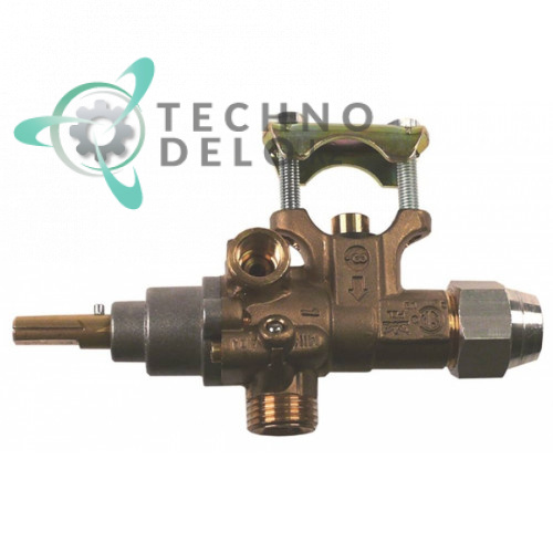 Кран газовый PEL 21S 777120 (M16x1,5 ось 8x6,5мм) CR0580450 для Baron, Mareno, Silko и др.