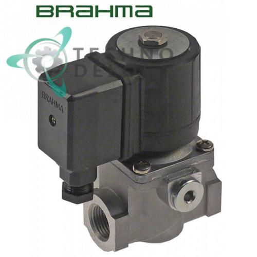 Клапан (вентиль) газовый Brahma 230VAC 1/2 L72мм 18811003 059509 33A1650 для Angelo Po, Zanussi и др.