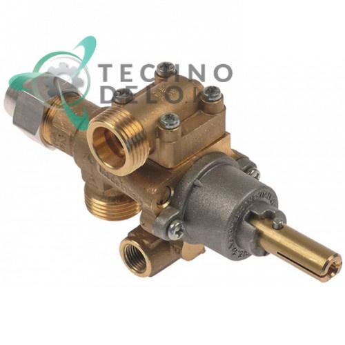 Кран газовый PEL 22S/O (M20x1,5 ось 10x8мм) 5018909180 для Ambach, Charvet и др.