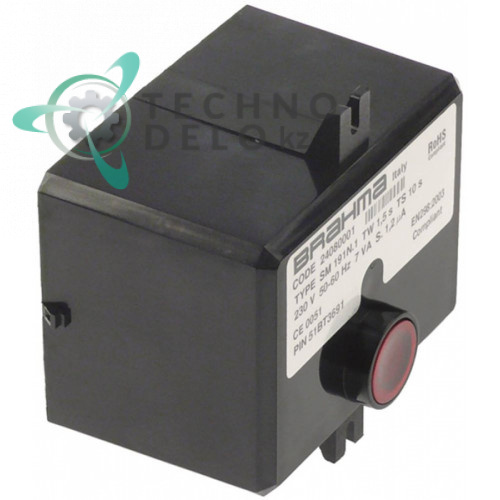 Контроллер газовый Brahma SM191.1 1,5с/10с 230В 7ВА 0A5167 для Electrolux, Zanussi