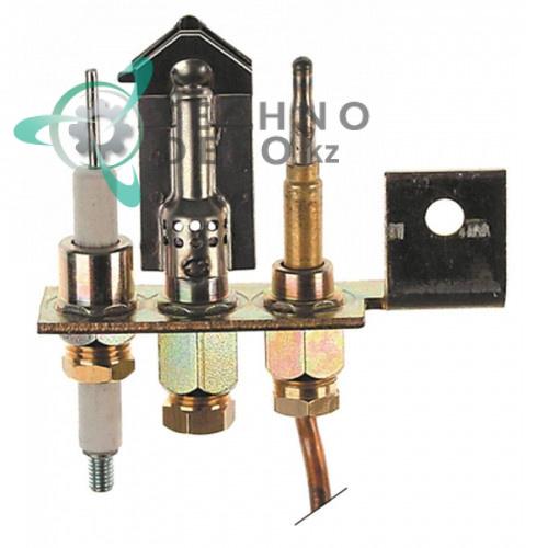 Горелка газовая Polidoro 3-х пламеная подключение 6мм для профессионального теплового оборудования Fagor и др.