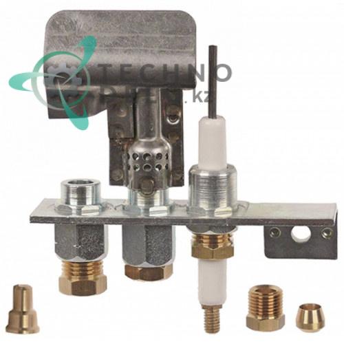 Горелка Polidoro 20/40 3-х пламеная подключение 4/6мм  природный/сжиженный газ для теплового кухонного оборудования
