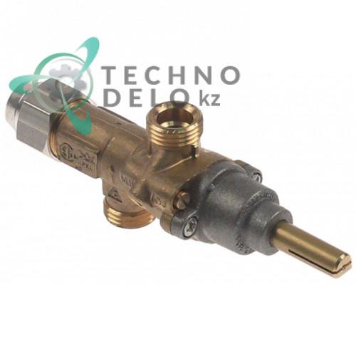 Кран газовый PEL 20S 7989B-3 вход M16x1,5 (трубка ø10мм) 054109 054628 для плиты RM-Gastro, Electrolux и др.