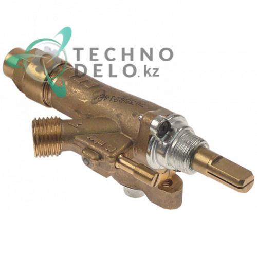 Кран газовый ECA ø21мм выход 1/4 (труба-ø8 мм) M8x1 дюза 0,55мм 11030602 для гирос-гриля Inoksan PDG 202 и др.