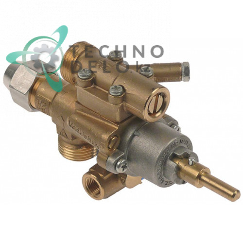 Кран газовый PEL 22S/O (M20x1,5 ось 6x4,6мм) 002574, 0K5619 для плиты Electrolux и др.
