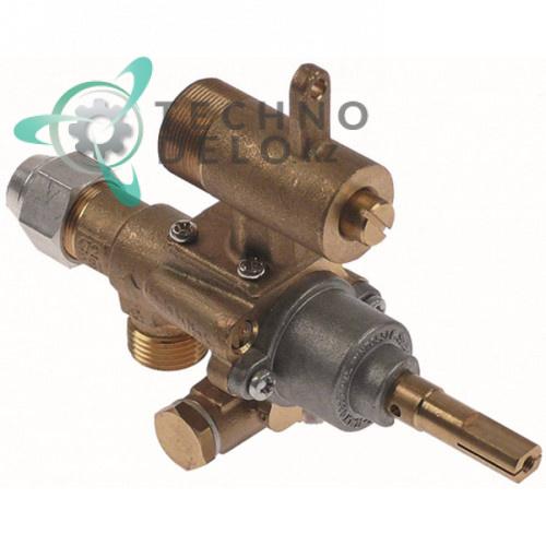 Кран газовый (аналог EGA) GPEL22D M18x1,5 трубка ø12мм ø0,35мм M22x1 M8x1 ось 9x6,5мм для плиты Heidebrenner