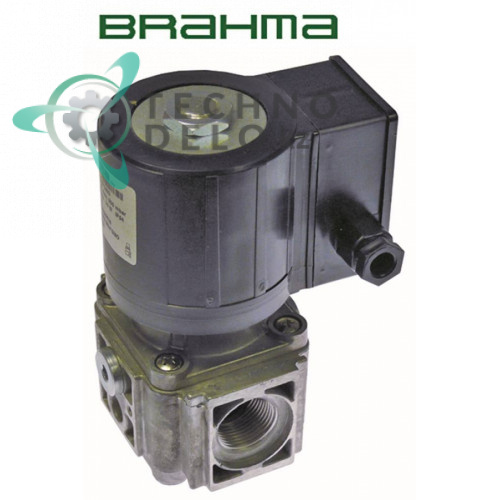 Клапан (вентиль) газовый Brahma 230VAC 1 дюйм L111мм 18813014 CE 63AQ0626