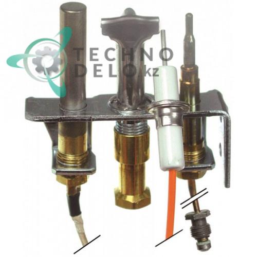 Горелка конфорки Robertshaw 4SHR-44 код 16 3-х пламенная сжиженный LPG газ 1/4 CCT для оборудования Falcon
