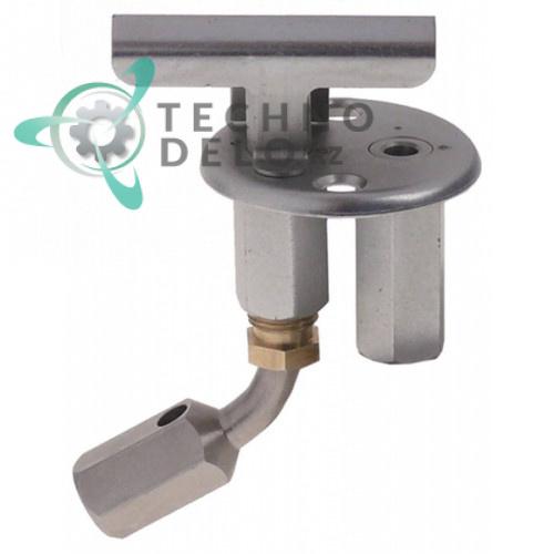 Горелка конфорочная в сборе 2-х пламенная серийный номер 646 с держателем жиклёра для плиты Electrolux N700/N900