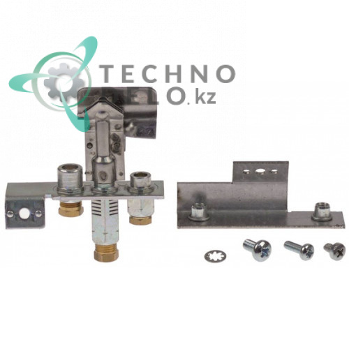 Горелка газовая Polidoro 3-х пламенная природный газ тип дюзы 31.2 подключение 4мм 535010005 896445 для Falcon G2625 и др.