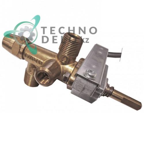 Кран газовый AB A12I-120 3/8 BSP M9x1 M10x1 для Nayati