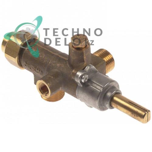 Кран газовый Copreci CAL-3200 M18x1,5 M8x1 1/8 10x8мм T032103 для гриля лавового Amatis, Fagor BG7-05/BG7-10 и др.