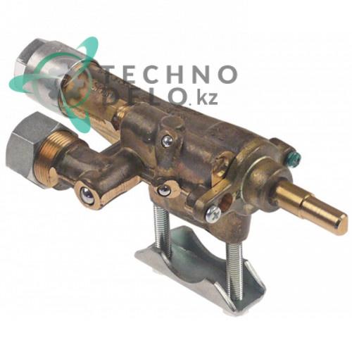 Кран газовый Copreci CAL-24200 ø21мм M17x1 M8x1 ось 7x5мм 539220221 600624 для гриля Falcon G350-10/G350-9 и др.