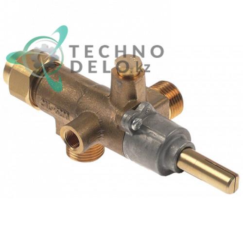 Кран газовый Copreci CAL-3200 M18x1,5 жиклёр 1,3 мм M18x1,5 M8x1 1/8 ось 10x8мм 12009462 12009464 для Fagor и др.