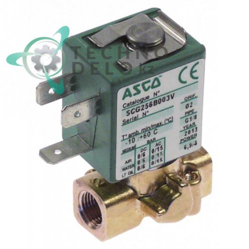 Клапан газовый Asco 256 L33мм H53мм 1/8 катушка 400127-197 230VAC E131002 для Capic и др.