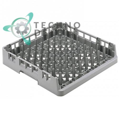 Кассета Cambro 500x500x101 9 подносов используется для посудомоечных профессиональных машин