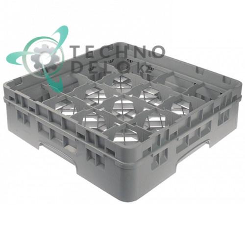 Кассета Cambro 500x500x142 размер ячейки 111x111мм для мытья стаканов применяется в посудомоечном оборудовании