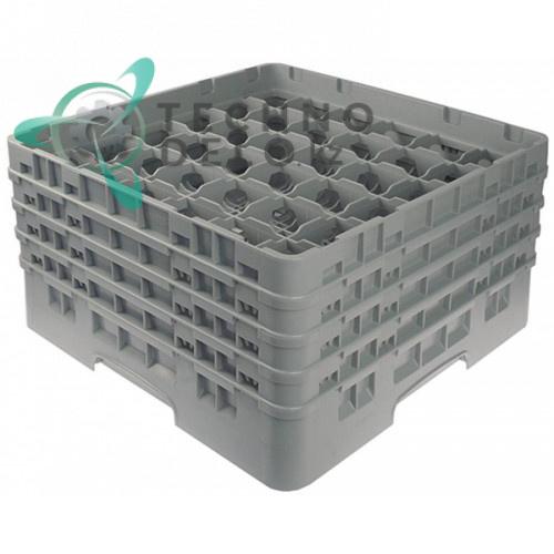 Кассета Cambro 500x500x265 ячейки 73x73мм 36 стаканов применяется для посудомоечных профессиональных машин