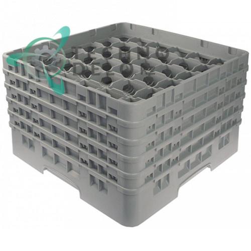 Кассета Cambro 500x500x306 ячейки 73x73мм 36 стаканов применяется для посудомоечных профессиональных машин