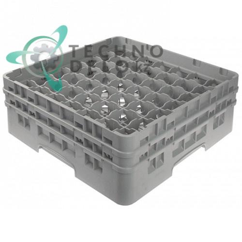 Кассета Cambro 500x500x183мм 49 стаканов пластик ячейки 62x62мм для профессиональных посудомоечных машин