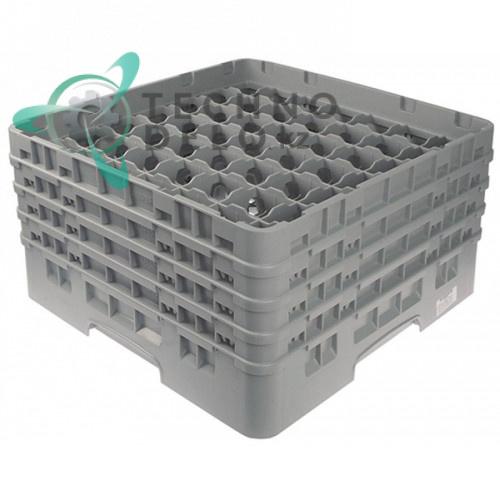 Кассета Cambro 500x500x265 ячейки 62x62мм 49 стаканов применяется для посудомоечных профессиональных машин