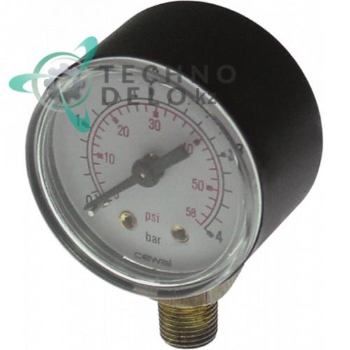 Манометр ø40мм диапазон давления 0-4бар резьба 1/8 33D1680 6006140 90200028 для Angelo Po, Convotherm, Repagas и др.