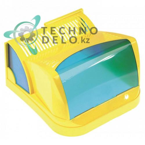 Крышка желтая задняя F001.1/GB для дозатора охлажденных напитков и гранитора CAB New Faby 1-3, Fast Cold 1-3