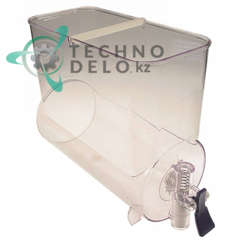 Ёмкость в комплекте с голубым рычагом дозатора F302 для аппарата охлаждения напитков CAB Fabi 1-3/Fast Cold и др.