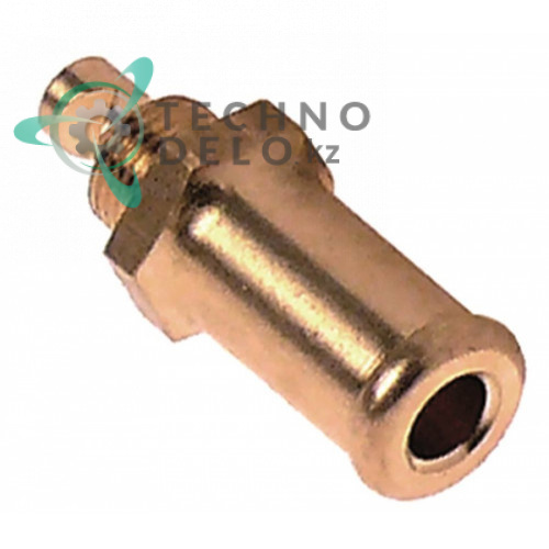 Сопло впрыскивающее ø0.7/ø6/ø11.5мм L-38мм ключ 14 латунь C1418 483286002399 для Inoxtrend, Lotus, Whirlpool