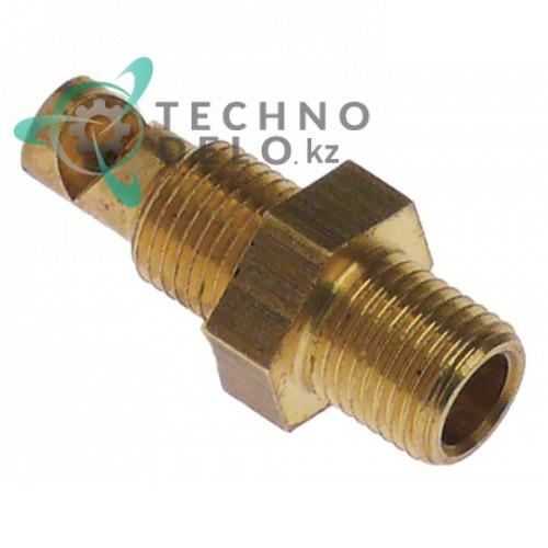 Сопло впрыскивающее ø2мм L-33мм ключ 14 латунь 58006080 LAR58006080 для пароконвектомата Lainox, Mareno и др.