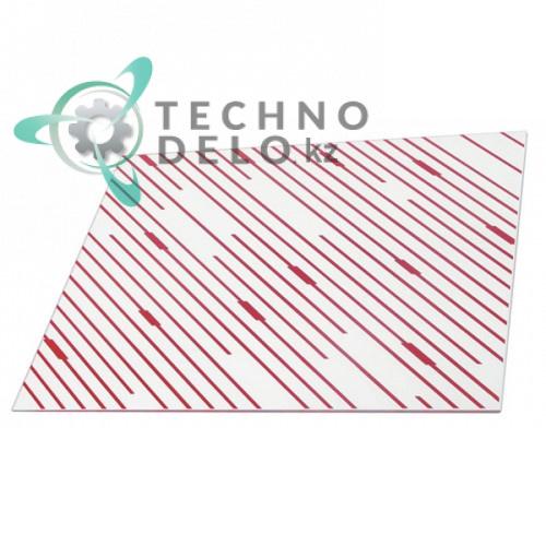 Стекло 340x280x4мм 09980448316 для конвекционной печи Tecnoeka 440