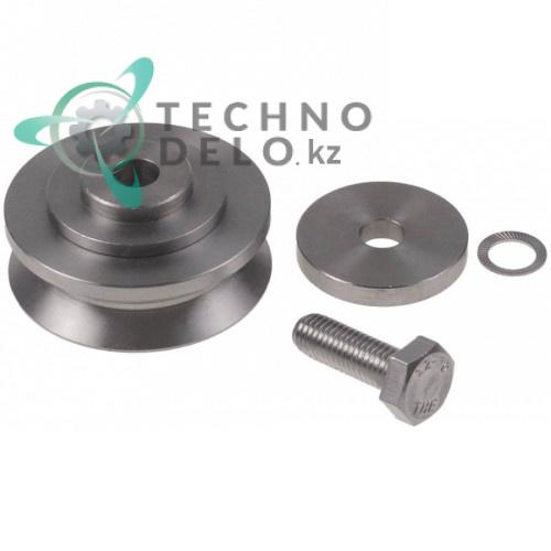 Колёсико (ролик) в комплекте ø60мм 27.5мм нержавеющая сталь 2117291 для пароконвектомата Convotherm OEB10.10 и др.