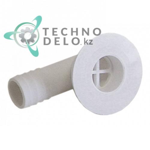 Соединитель шланговый угловой 910066 RH003286 для льдогенератора Brice Italia, Geofrigor