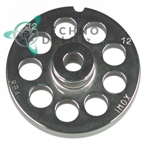 Решетка (Enterprise) для мясорубки mod. 12, ячейка 12мм /под горловину - Ø 70мм
