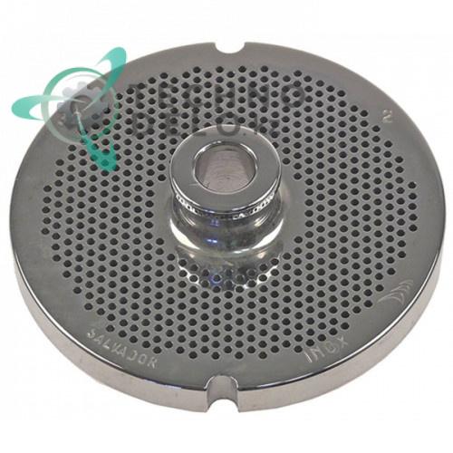 Решетка (Enterprise) для мясорубки 32 Ø ячейки 2мм с центральной втулкой под горловину Ø 100мм