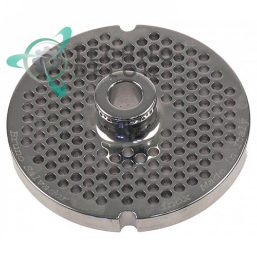 Решетка (Enterprise) для мясорубки 32 Ø ячейки 4,5мм с центральной втулкой под горловину Ø 100 мм